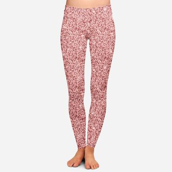 CLEARANCE Rose Gold Glitter Leggings