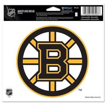 """Licensed Boston Bruins Official NHL 4.5"""" x 6"""" Car Window Cling Decal Bruins by Wincraft KO_19_1"""