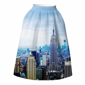 European Building Midi Skirt