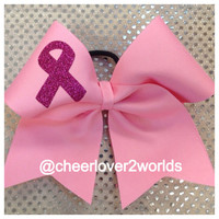 Pink Breast Cancer Awareness Cheer by CheerLover2Worlds on Etsy
