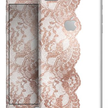Rose Gold Lace Pattern 12 - Skin-kit for the iPhone 8 or 8 Plus