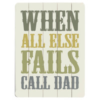 Call Dad Wall Decor