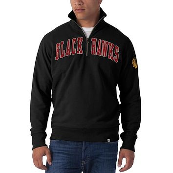 Chicago Blackhawks - Striker 1/4 Zip Premium Sweatshirt