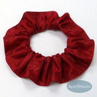 Ruby Red Sparkle Dog or Cat Scrunchie Neck Ruffle