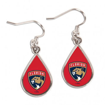 Florida Panthers Earrings Round Style