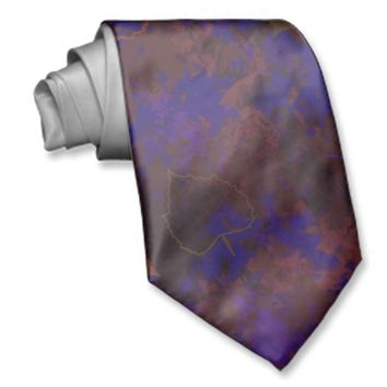 Blue-Brown Leaf Grunge Custom Ties
