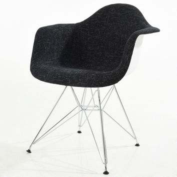 Padget Padded Arm Chair in Black