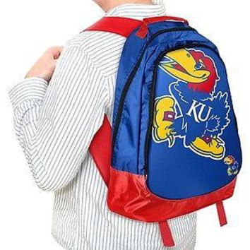 NCAA Kansas Jayhawks KU Backpack Bag School Laptop Computer Tote Case