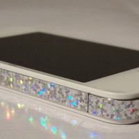 SPARKLES RAINBOW Vinyl Sticker for iPhone 4 Edge Wrap Decal