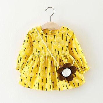 Newborn Infant Toddler Baby Girls Kids Dresses Tulle Party Pageant Tutu Sundress Dress Pink Yellow A-Line Mini Dresses