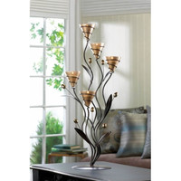 Large Golden Dawn Lily Candle Holder Decor