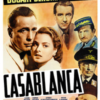 Humphrey Bogart - Casablanca - Home Theater Decor - Classic Movie Poster Print  13x19 - Vintage Old Movies Poster