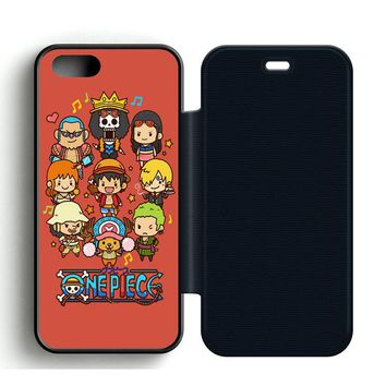 Cute One Piece Chibi Leather Wallet Flip Case iPhone 5 | 5S