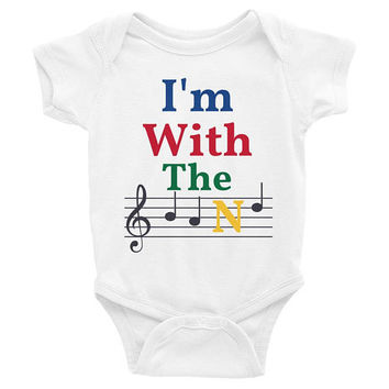 I'm with the band, music baby clothes, music baby Onesuits, music baby Onesuits, music baby shirt, trendy baby clothes, baby shower gift,