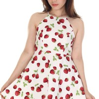 Made To Order - Betty dress in Strawberries Print