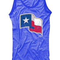 Texas Rangers Womens Royal Rangers Contrast Tank Top