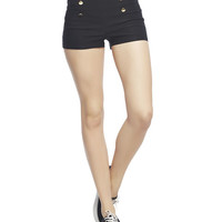 3 Button Solid Sailor Short | Wet Seal