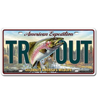 American Expedition Rainbow Trout License Plate