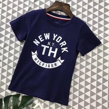 Tommy Hilfiger Girls Boys Children Baby Toddler Kids Child Fashion Casual Shirt Top Tee