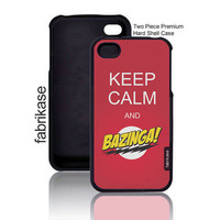 Keep Calm And Bazinga iPhone 4 Case Fits iPhone 4s / iPhone 4 Case