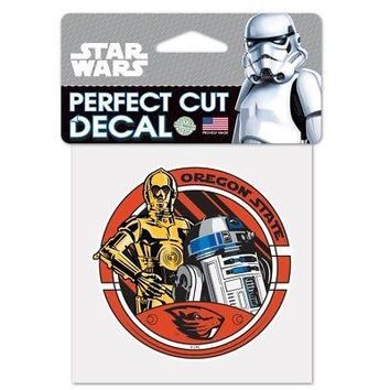 Licensed Oregon State Beavers Star Wars R2-D2 and C-3PO Die Cut Car Decal Wincraft 155658 KO_19_1