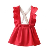 Esther Red Cotton Dress
