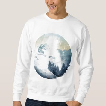 Winter Mountain Ski Slope, Men's Sweatshirt