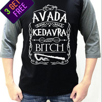 Harry Potter Shirt Avada Kedavra Baseball Men Women Shirt Unisex Funny Tshirt Raglan 3/4 Long Sleeve