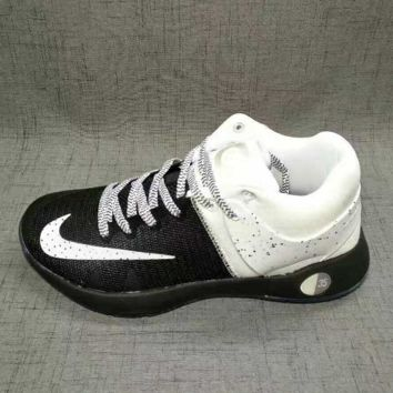 NIKE Women Men Casual Running Sport Shoes Sneakers big high top Black-white(front white hook)