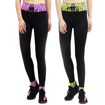 Victoria's Secret PINK High Waist Hollow Tight Gym Yoga Running Leggings