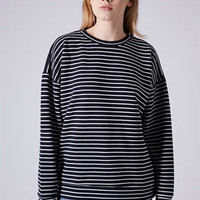 STRIPE RIBBED SWEAT BY BOUTIQUE