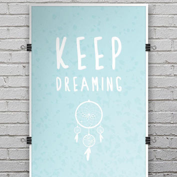 Keep Dreaming Dreamcatcher - Ultra Rich Poster Print