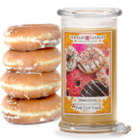 Glazed Donuts Jewelry Candle