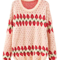 'The Mary'  Strawberry Patterned  Pullover