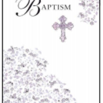 Foiled Cross Baptism Card