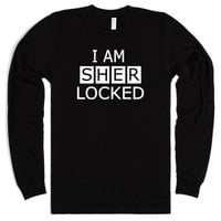 I AM SHERLOCKED-Long Sleeve-Unisex Black T-Shirt
