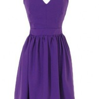 Purple Cocktail Dress - Cross Back Dress | UsTrendy