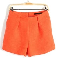 Fashion Pleated Shorts - OASAP.com