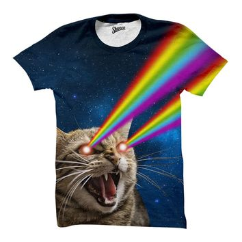 Galaxy Laser Cat Shirt
