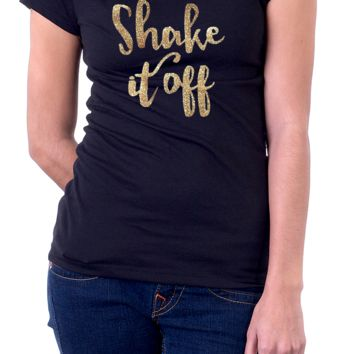 Shake It Off T-Shirt Top Black White T-Shirt - Women's, Unisex Kid's