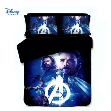 cool Avengers bedding set 3/4 pcs single full queen king size quilt cover 3d bedspreads twiin girl boy room decor flat sheet kid