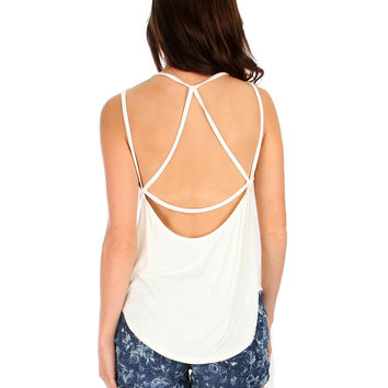 IVORY LYSS LOO OH MY STRAPS! TANK TOP