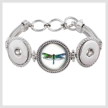 Bracelet Toggle Clasp Dragonfly Snap 20mm 3/4""
