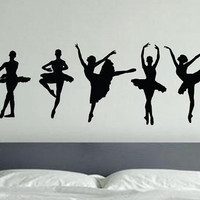 Ballet Dancer Vinyl Decal Wall Art, Kids room