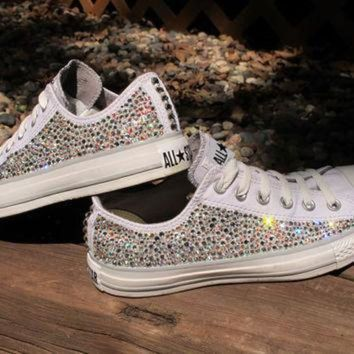 DCCK1IN swarovski crystal converse all stars not including the shoes read description