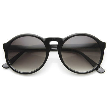 Large P3 Vintage Inspired Round Dapper Fashion Sunglasses 9130