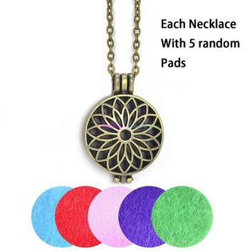 Antique Vintage Dark Silver Locket  Diffuser With 5 Aromatherapy Pads