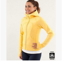 """lululemon"" Scuba Hoodie jog run yoga workout clothes style fashion Yellow"
