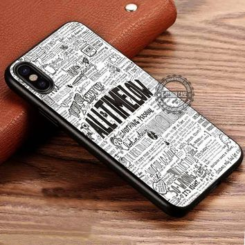 All Time Low Collage Lyric iPhone X 8 7 Plus 6s Cases Samsung Galaxy S8 Plus S7 edge NOTE 8 Covers #iphoneX #SamsungS8