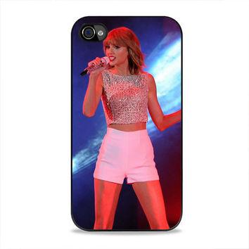 Taylor Swift Hits The Stage In A Cute Top And Shorts To Perform  iPhone 4/4s Case